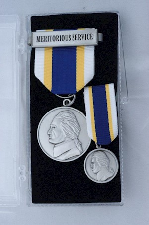MERITORIOUS SERVICE MEDAL SET LARGE