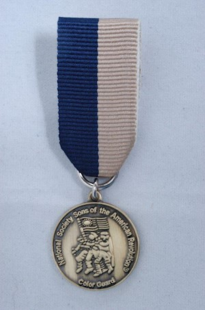 MINI BRONZE COLOR GUARD MEDAL LARGE