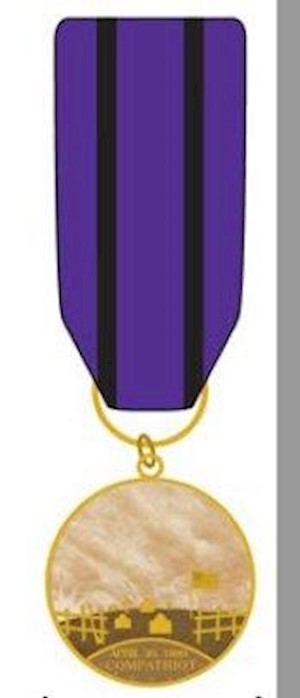 MINI COMPATRIOT GRAVE MARKING MEDAL LARGE