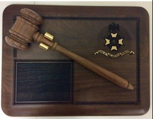 SAR GAVEL PLAQUE LARGE
