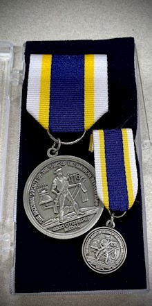 SILVER GOOD CITIZENSHIP MEDAL CERTIFICATE LARGE