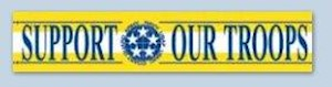 SUPPORT OUR TROOPS HORIZONTAL BANNER LARGE