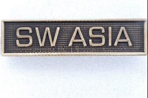 WAR SERVICE BAR - SW ASIA LARGE