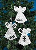Permin Kit - Angel Hardanger Ornaments THUMBNAIL