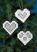 Permin Kit - Heart Hardanger Ornaments THUMBNAIL