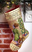 Janlynn Cross Stitch Kit - Christmas Morning Stocking