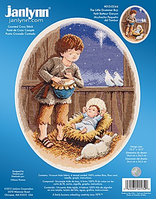 Janlynn Cross Stitch Kit - The Little Drummer Boy