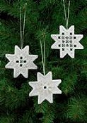 Permin Kit - Star Hardanger Ornaments THUMBNAIL