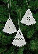 Permin Kit - Christmas Tree Hardanger Ornaments THUMBNAIL