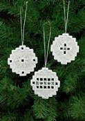 Permin Kit - Christmas Bulb Hardanger Ornaments THUMBNAIL