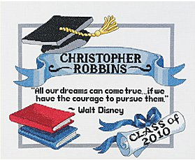 Janlynn Cross Stitch Kit - Graduation Dreams THUMBNAIL