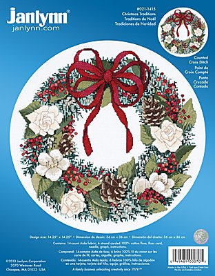 Janlynn Cross Stitch Kit - Christmas Traditions