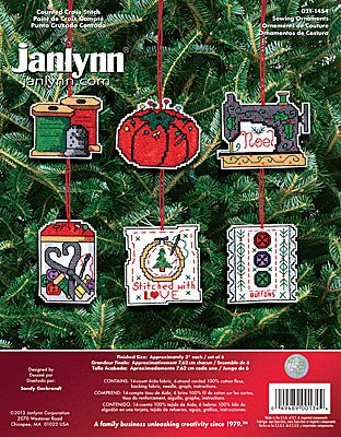 Janlynn Cross Stitch Kit - Sewing Ornaments