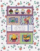 Janlynn Cross Stitch Kit - Sweet As A Cupcake