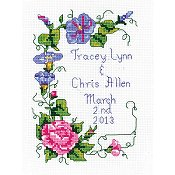 Janlynn Cross Stitch Kit - Wedding Floral