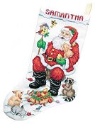 Janlynn Cross Stitch Kit - Santa & Animals Stocking