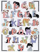 Janlynn Cross Stitch Kit - Cat Alphabet - Discontinued by Manufacturer