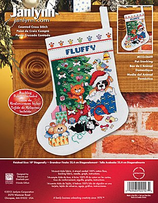 Janlynn Cross Stitch Kit - Pet Stocking