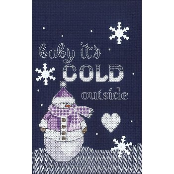 Janlynn Cross Stitch Kit - Cold Outside MAIN