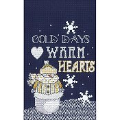 Janlynn Cross Stitch Kit - Warm Hearts