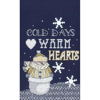 Janlynn Cross Stitch Kit - Warm Hearts MAIN