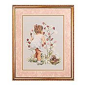 Janlynn Cross Stitch Kit - Girl with Cosmos_THUMBNAIL