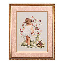 Janlynn Cross Stitch Kit - Girl with Cosmos MAIN