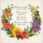 Janlynn Cross Stitch Kit - Autumn Sentiments