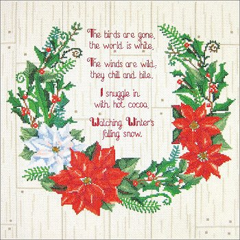Janlynn Cross Stitch Kit - Winter Sentiments MAIN