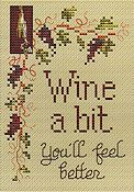 Sue Hillis Designs - Post Stitches - Wine A Bit