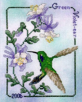 Crossed Wing Collection - Commemorative Hummingbirds of the World 2006 - Green Violet-ear MAIN