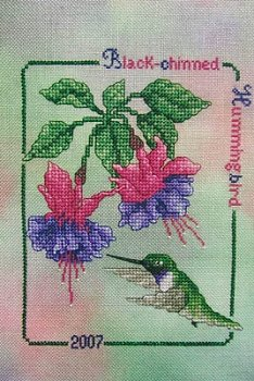 Crossed Wing Collection - Commemorative Hummingbirds of the World 2007 - Black-chinned Hummingbird MAIN