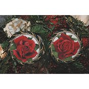 The Silver Lining - Red Rose Ornaments 215