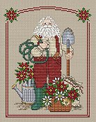 Sue Hillis Designs - Poinsettia Santa