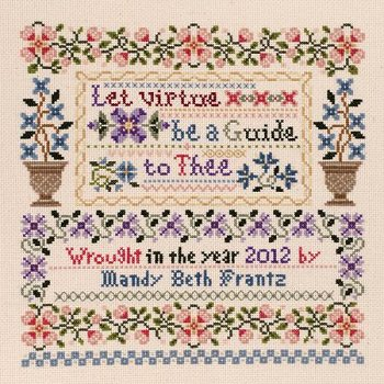 Janlynn Cross Stitch Kit - Let Virtue MAIN