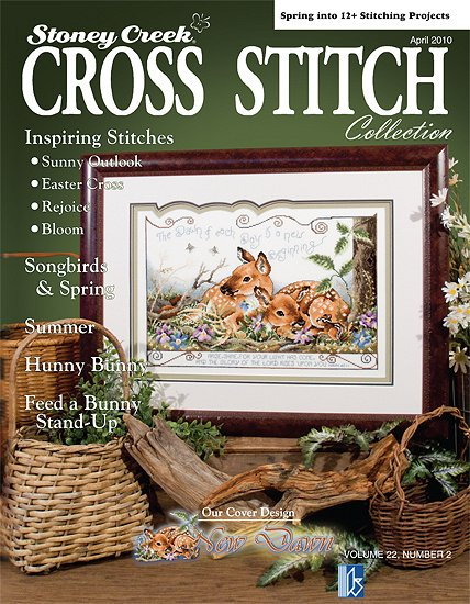 cover of Stoney Creek Cross Stitch Collection magazine April 2010 THUMBNAIL