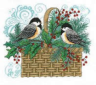 Imaginating - Winter Chickadee Basket 2743