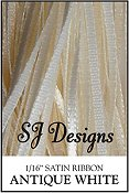 "SJ Designs - Satin Ribbon 1/16"" - Antique White"