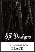 "SJ Designs - Satin Ribbon 1/16"" - Black"