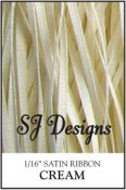 "SJ Designs - Satin Ribbon 1/16"" - Cream"