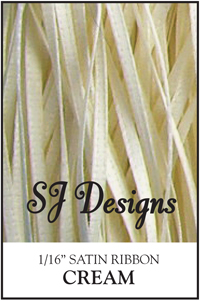 "SJ Designs - Satin Ribbon 1/16"" - Cream MAIN"