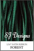 "SJ Designs - Satin Ribbon 1/16"" - Forest Green"