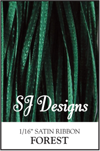 "SJ Designs - Satin Ribbon 1/16"" - Forest Green MAIN"