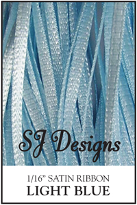 "SJ Designs - Satin Ribbon 1/16"" - Light Blue MAIN"