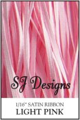 "SJ Designs - Satin Ribbon 1/16"" - Light Pink"