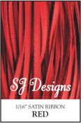 "SJ Designs - Satin Ribbon 1/16"" - Red"