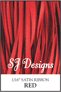 "SJ Designs - Satin Ribbon 1/16"" - Red MAIN"