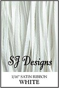 "SJ Designs - Satin Ribbon 1/16"" - White"
