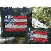 SamSarah Design Studio - Fresh Mesh Waving Flag Tote & Clutch THUMBNAIL