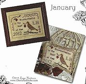 Cherished Stitches - Feathered Friends - January THUMBNAIL
